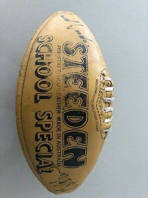 vintage leather NRL football (early 90's) signed