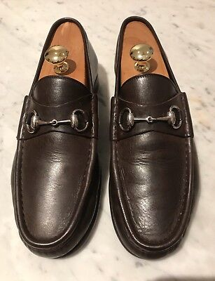 89dca200d1a Gucci Classic Leather Horsebit Loafers 9  9.5 1953 Brown Jordaan 🇮🇹 Roos