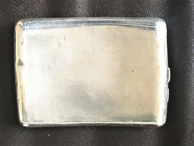 Solid Silver Cigarette Case, Birmingham 1933, W T Toghill & Co, 134gm, Dented