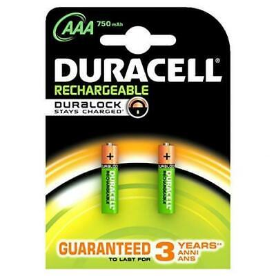 Duracell Confezione Da 2 Batterie Mini Stilo 1,2V 750 Mah Ricaricabile Plus Hr03
