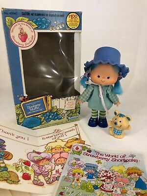 Vintage 1980s Strawberry Shortcake - Blueberry Muffin with Cheesecake & Box