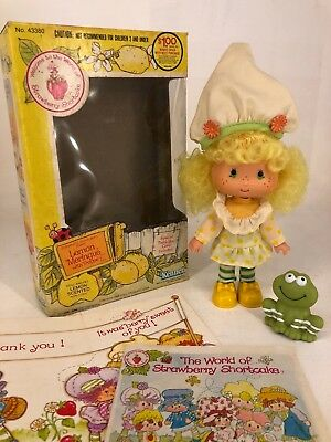 Vintage 1980s Strawberry Shortcake - Lemon Meringue with Frappe Frog & Box