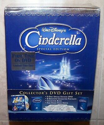 CINDERELLA Special Edition Collector's DVD Gift Set + Lithograph 2005 Disney NEW