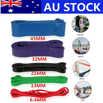Resistance Band Loop Home Gym Exercise Power Strength Training Sport Loop AU