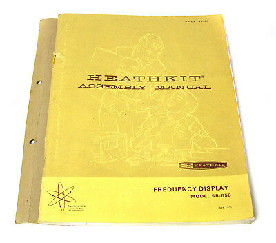 Heathkit Baumappe / Assembly Instructions Manual für SB-650 Frequency Display