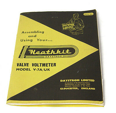 Heathkit Baumappe / Assembly Instructions Manual für V-7A/UK Valve Voltmeter
