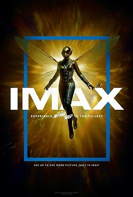 Marvel ANT-MAN & THE WASP 2018 IMAX Original DS 4x6' US Bus Shelter Movie Poster
