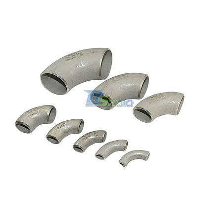 16MM-60MM Short Radius Butt-Weld Elbow 90° Stainless Steel SUS304 Pipe Fitting