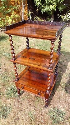 Antique Victorian Rosewood Wotnot.  SO30 or RG27