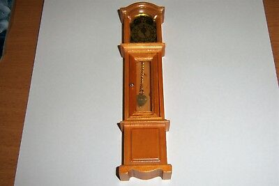 Doll's House Grandfather Clock With Opening Door At Front in 12th Scale.