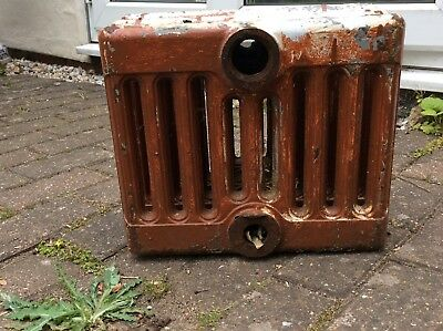 Ideal 9 column cast iron radiator - three sections for sale.