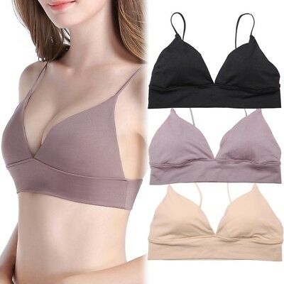 Women Deep V Push Up Steelless Bra Solid Sport Bra Underwear Brassiere Cup B/C/D