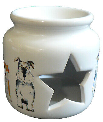 Dogs China Oil Burner for wax melts, essential oils or  yankee tarts.