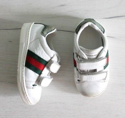 c8439f1c5 NEW AUTHENTIC GUCCI Girl Baby Toddler Shoes Sneakers Pink Leather ...