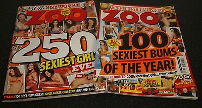 2 Great Zoo Magazines - 250th Souvenir Issue & 100 Sexiest Bums