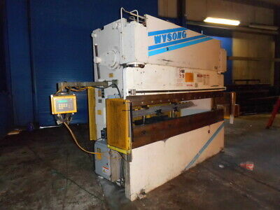 100 Ton x 10' Wysong CNC 2 Axis Hydraulic Press Brake Sheet Metal Bender