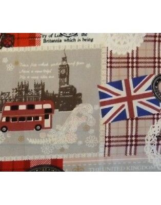 Rotes Stofftaschentuch England London Kinder Damen Stofftuch England rot bunt