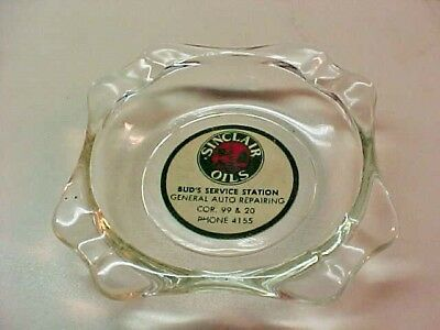 "Vintage "" Sinclair Oil "" Glass Ash Tray"