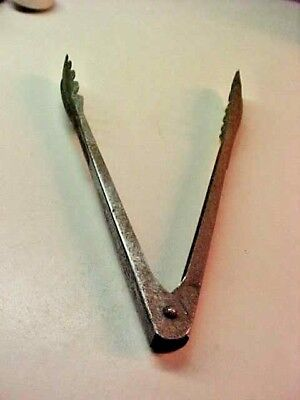 "Vintage "" Sinclair Oil "" Metal  Salad  Tongs"