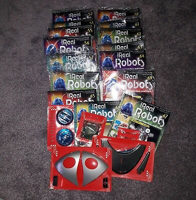 Job Lot 15 Ultimate Real Robots Magazines All new with parts.Most still sealed +