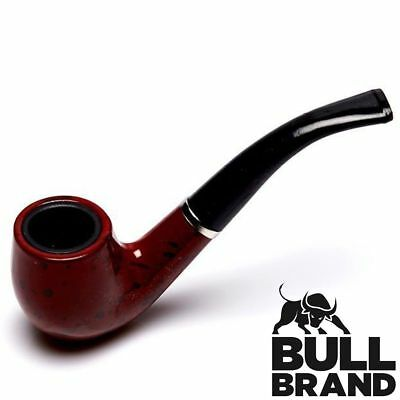 HIGH QUALITY VINTAGE TOBACCO PIPE Walnut Effect Smoking Bowl New Mens Gift Boxed
