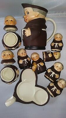 "12 PC. GOEBEL ""FRIAR TUCK""  S's & Ps, CREAMER, CONDIMENTS, TRAY"
