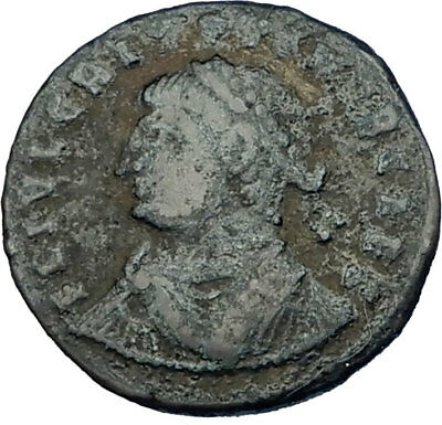 CRISPUS son of Constantine I the Great 325AD Ancient Roman Coin CAMP GATE i65732