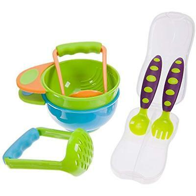 Mash And Serve Bowl Set To Make Homemade Baby Food W/toddler Spoon Fork Utensil