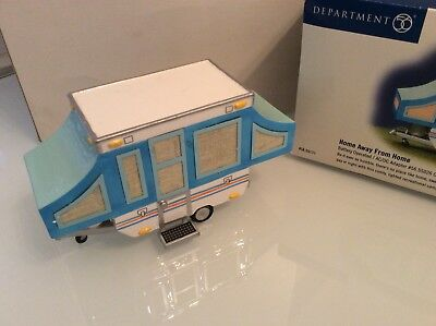 Dept 56 Snow Village Home Away From Home Pop-Up Camper FREE SHIPPING
