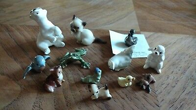 Vintage Hagen Renaker lot polar bear goose blue bird fox caterpillar miniature