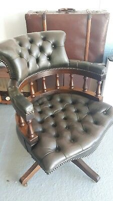 Chesterfield style Leather Captains office chair  (Tilts & Swivel)