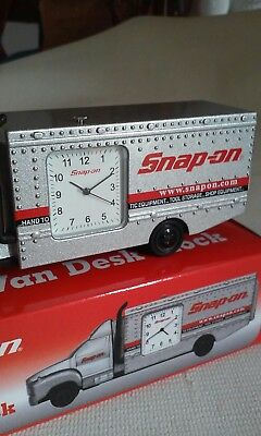 Snap-on Tools COLLECTOR DESK CLOCK Tool Box Clock New In Box Promo Mechanic COOL