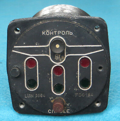 Soviet Russian Pilot Aircraft L-29 Delfin Cockpit Panel chassis Indicator LUN