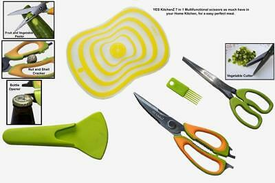 7 in 1 Multi-functional Kitchen Shears & 5 Blade  Herb + MEAT Scissors  GIFT SET