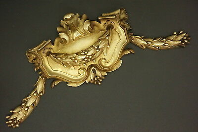 Large Pediment, Louis Xvi Style, Era 19Th - Bronze - French Antique