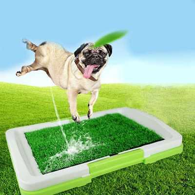 Pet Dog Toilet UrinaryTrainer Grass Mat Potty Pad Indoor House Litter Tray