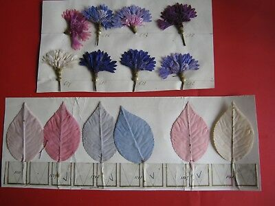 Vintage Cloth Flower Colour  Fabric Sample -From A Shop In Bath 1939-Lot L