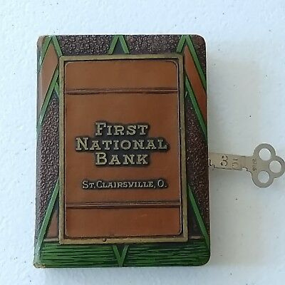 #1396 - Book Bank - St. CLairsville, O. -  First National Bank - FREE S&H