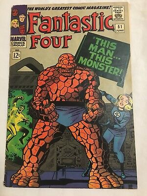 Fantastic four 51 54 And 55. Silver Age Lot