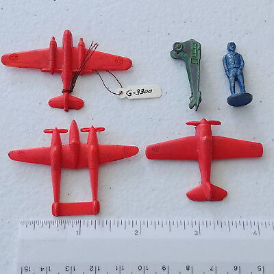 """#1263 -  Lot of aviation, airplan, airman Cracker Jack prizes  """"Flying Boxcar"""""""