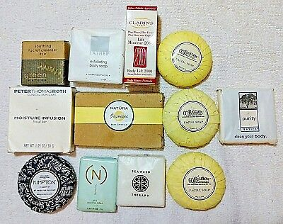 Lot of Vintage/ High-end Hotel Travel Sized Soaps and Bath Care Items