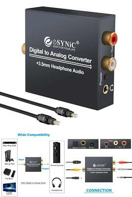 Digital to Analog Audio Converter Optical Cable 3.5mm Output HDTV BluRay Xbox360