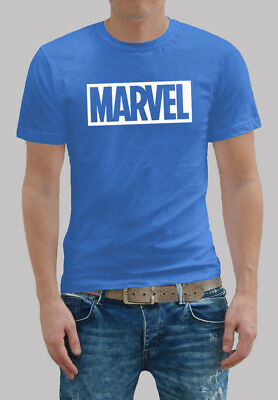 New 2018 Fashion MARVEL Men's cotton short sleeves, casual T-Shirts.