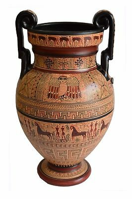 Geometric Period Volute Krater Amphora Vase - National Museum Of Greece Replica