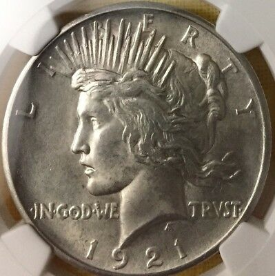 1921 Peace Dollar NGC MS63 Sandblasted w/ Antique Finish Observe