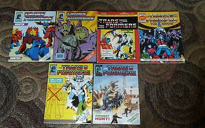 Transformers Comic Lot Holiday Summer Winter +The Movie Special Marvel UK