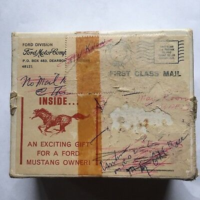 Vintage Ford Mustang Owner Gift Box from Ford Motor Company advertising