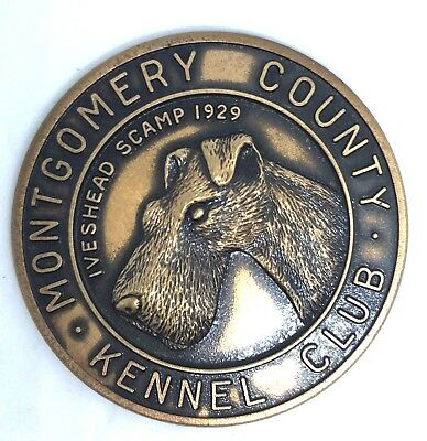 Antique Vintage Montgomery County Kennel Club  Iveshead Scamp 1929  Coin