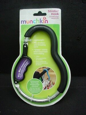 Munchkin Baby Stroller & Shopping Cart Grocery Shopping Bag & Purse Hook New