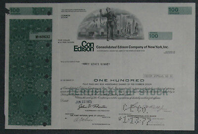 Consolidated Edison Company of New York, Inc. 1973 100 Shares .